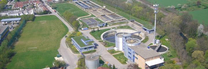 Luftbild der Kläranlage