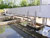 Absaugeinrichtung und Rohrleitung der Bodenräumung von Restschlamm
