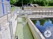 Ablaufrinne für gereinigtes Abwasser