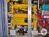 Gasmotor (gelb) / Stromerzeuger (rot)